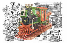 Childrens Backyard Battery powered riding Train and track Printed notes & Plans