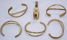 Open Eye Design Brass Bracelet Cuff for Jewelry Making Etc. Pkg Of 6