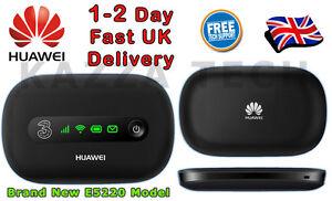 12GB 12 Months HUAWEI E5220 BLACK HSPA+ Mobile MIFI WIFI 3G 4G Wireless Modem