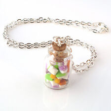 Dolly Mixtures sweet jar glass necklace retro yummy kitch candy handmade