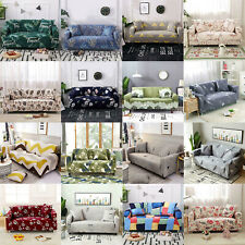 Floral Stretch Chair Sofa Cover 1 2 3 4 Seater Couch Elastic Slipcover Protector