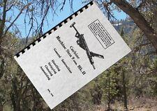 STEN 9mm MACHINE CARBINE MK.II Rifle Owners Gun Manual + MK I II II Parts