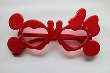 Disney Sunglasses Tokyo Disneyland Mickey Minnie kiss Japan RED Unisex