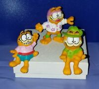 "Garfield PVC Figures (3)  ~ 2"" Tall United Feature Syndicate 1981"