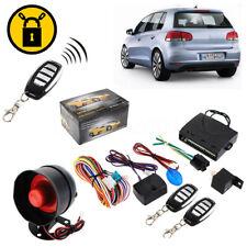 1-Way Car Auto Vehicle Alarm & Keyless Entry Siren Security System 2 Remote+ Box