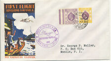 1937 Hong Kong to Manila First Flight Cachet Pan American Clipper Cover