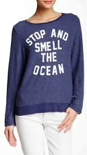 NWT WILDFOX COUTURE Stop & Smell The Ocean Baggy Beach Jumper Sweatshirt Small S