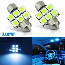 2X Festoon 31MM Ice Blue LED Car Dome Light lamp Bulbs 3021 6428 DE3175 Interior