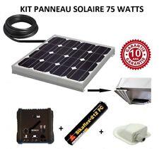Kit panneau solaire 75w 12 V pour camping car monocristallin