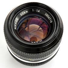 Nikkor 50mm f/1.4 AI Converted Super Sharp MF Lens. Nr. Mint. See test pics.