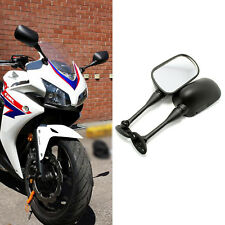 For Suzuki GSXR600 750 Black Custom Motorcycle Rearview Side Mirrors Plastic