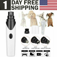 Electric Dog Cat Pet Claw Toe Nail Trimmer Care Grooming Grinder Clipper Tool