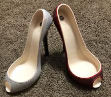 Wine bottle Holder WILD EYE Red & Silver Glitter High Heel Stiletto  Lot Of 2