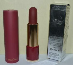 LANCOME Dram'atic # 507 L'Absolue Rouge Ultra Matte Lipstick FULL SIZE~ BNIB