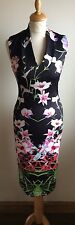 TED BAKER .. TROPICAL FLORAL DRESS .. FITTED STRETCH .. SZ 1 UK 6-8 .. RRP £159