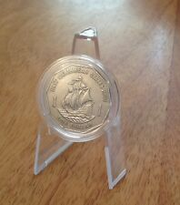 1991 East Caribbean States Ship One Dollar $1 coin In Capsule Good Condition