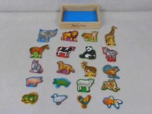 Melissa & Doug Wooden Animal Magnets Developmental Toy Cognitive Skills