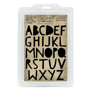 Tim Holtz Cutout Upper Cling Foam Alphabet Stamps - 26 Pieces