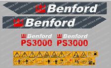 BENFORD PS3000 DUMPER DECALS
