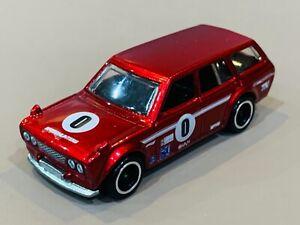 Hot Wheels '71 Datsun 510 Wagon Custom 'Super Treasure Hunt' Spectra Red RRs