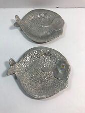 2 Arthur Court Small Fish Plates Flounder Serving Plate Vintage 1986