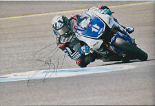 Ben Spies GENUINE SIGNED IN PERSON 12x8 Photo AFTAL COA MotoGP Yamaha Autograph