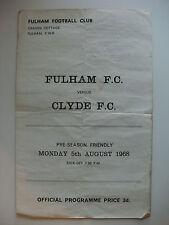 Fulham Teams F-K Football Pre-Season Fixture Programmes