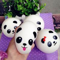 2X Cute New Panda Squishy Bread Jumbo Chubby Strap Bag Phone Pendant Kid Toys