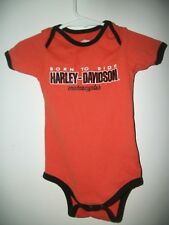 "Harley Davidson Boys Bodysuit, Size 18 Months ""Born To Ride"" One Piece"