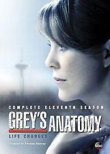GREY'S ANATOMY: SEASON 11 DVD - THE COMPLETE ELEVENTH SEASON [6 DISCS] - NEW