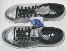 Adidas Stan Smith AQ4706 Disco Running Sport Freizeit Schuhe Sneaker 44 Silber