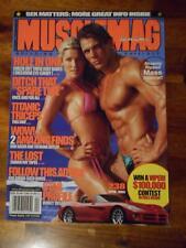 MUSCLEMAG bodybuilding SUN DRESS muscle magazine FRANK SEPE & RACHEL MOORE 4-02