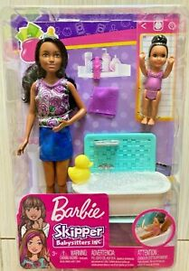Barbie Skipper Babysitters Inc Bathtime Playset With Toddler NEW