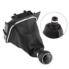Black 5 Speed Gear Shift Knob Gaiter Boot Cover For VW Golf 6 MK5 MK6 Jetta Hot