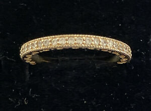 Genuine PANDORA 14ct Gold band with CZ Size 52 RPP $510