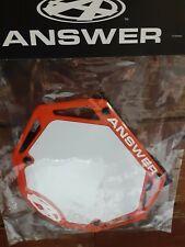 New listing AnswerBMX 3D Number Plate, Mini - ORANGE