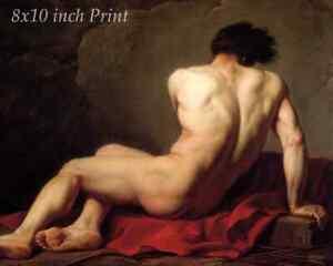 Patroclus by Jacques Louis David - Nude Man Greek Myth Homer  8x10 Print 3012
