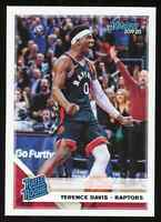 2019-20 Terence Davis Panini Chronicles Donruss Rated Rookie RC #196 Raptors (B)