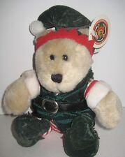 NWT Starbucks Bearista Bear 2001 Holiday Elf #17 Christmas Red & Green Attire