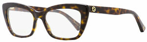 Gucci Cateye Eyeglasses GG0165O 002 Havana 51mm 0165