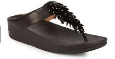 Fitflop Rumba Black Flip Flop Sandal Women's sizes 5-11/NEW