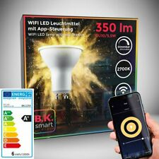 LED WiFi Leuchtmittel SmartHome Lampe dimmbar Licht Birne GU10 Alexa Google 5,5W