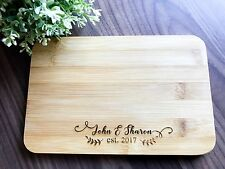 Mini Personalized Engraved Serving/Chopping Board-Wedding Gift for Bride & Groom