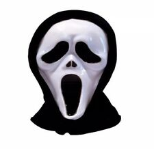 Black Ghost Scream Face Mask Costume Party Halloween Scream Mask Spooky UK