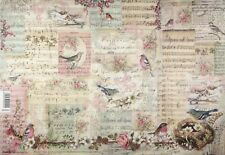 Rice paper -Christmas Birds- for Decoupage Decopatch Scrapbook Craft
