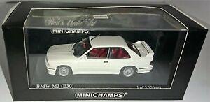 BMW 1987 M3 E30 Coupe 1:43 scale model by MINICHAMPS in Alpine White
