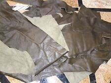 Cowhide Genuine Leather Scraps Deep Olive 3 oz.Soft Finishing 15 oz,