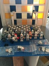 48 Lego Star Wars minifigure Clone Troopers with guns and clone commanders rare