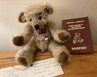 RARE OOAK Teddy Bear Orphanage Bear, 1/1. 'MURGATROYD' by Jean Wolstenholme