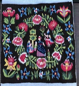 Old large handwoven Swedish flemish weaving /Wall tapestry / Wall hanging